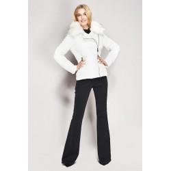 Down jacket with faux fur detachable collar Gaudì