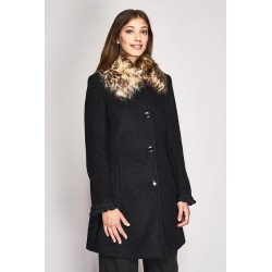 Coat with faux fur collar Gaudì