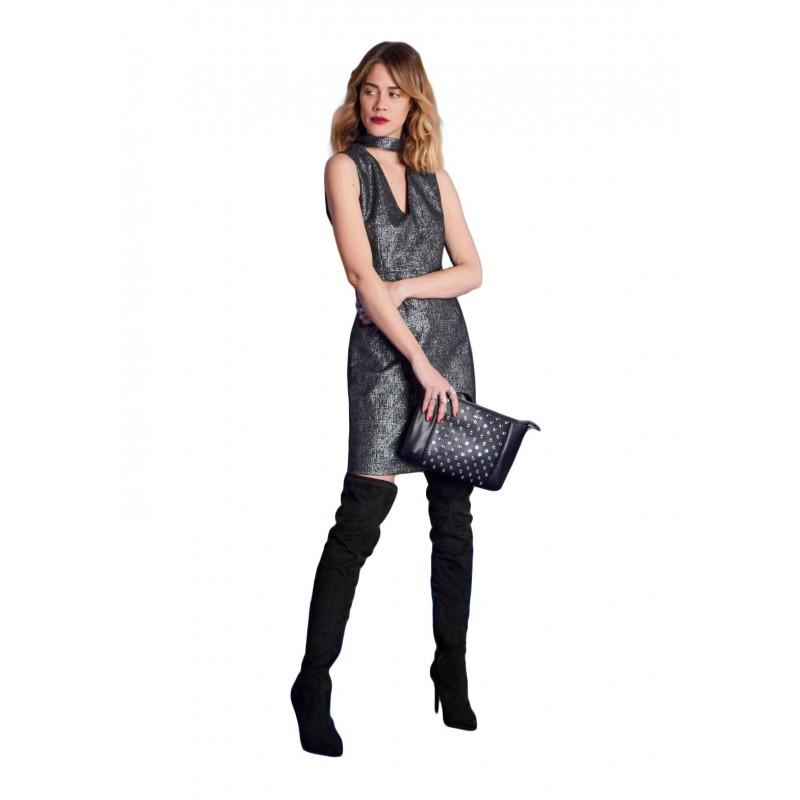 Sleeveless dress in lurex Gaudì