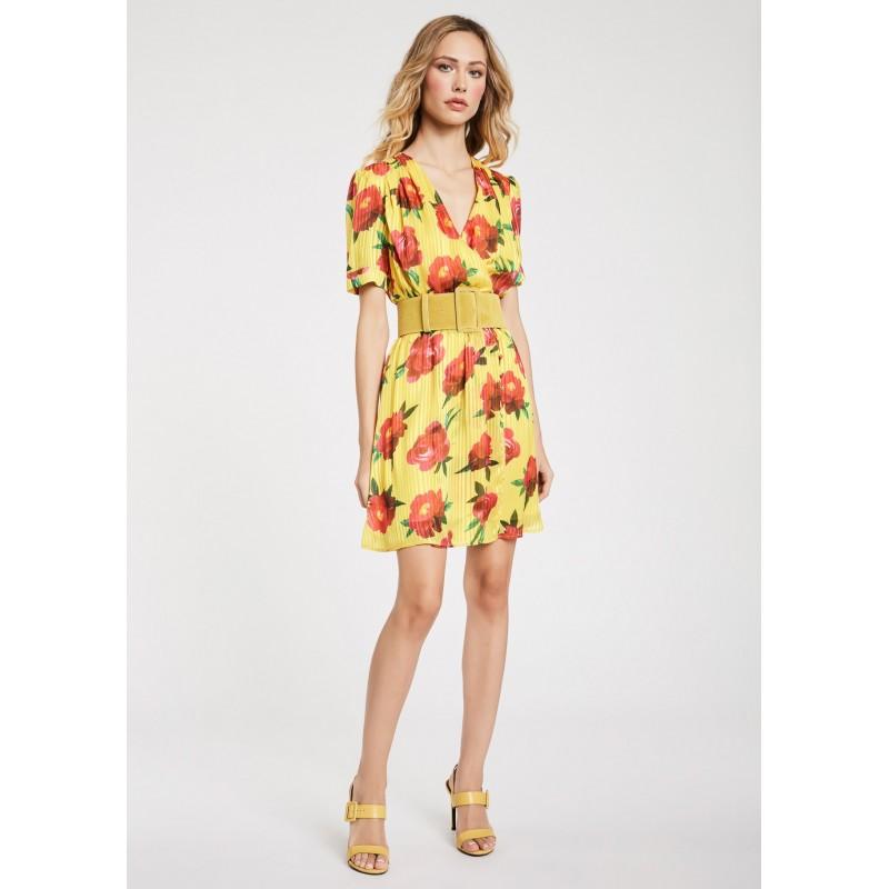 Abito corto a fiori giallo da Donna Gaudì Primavera Estate 2020