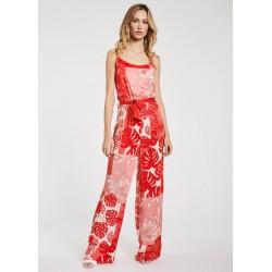 Tuta rossa in viscosa da Donna Gaudì Primavera Estate 2020