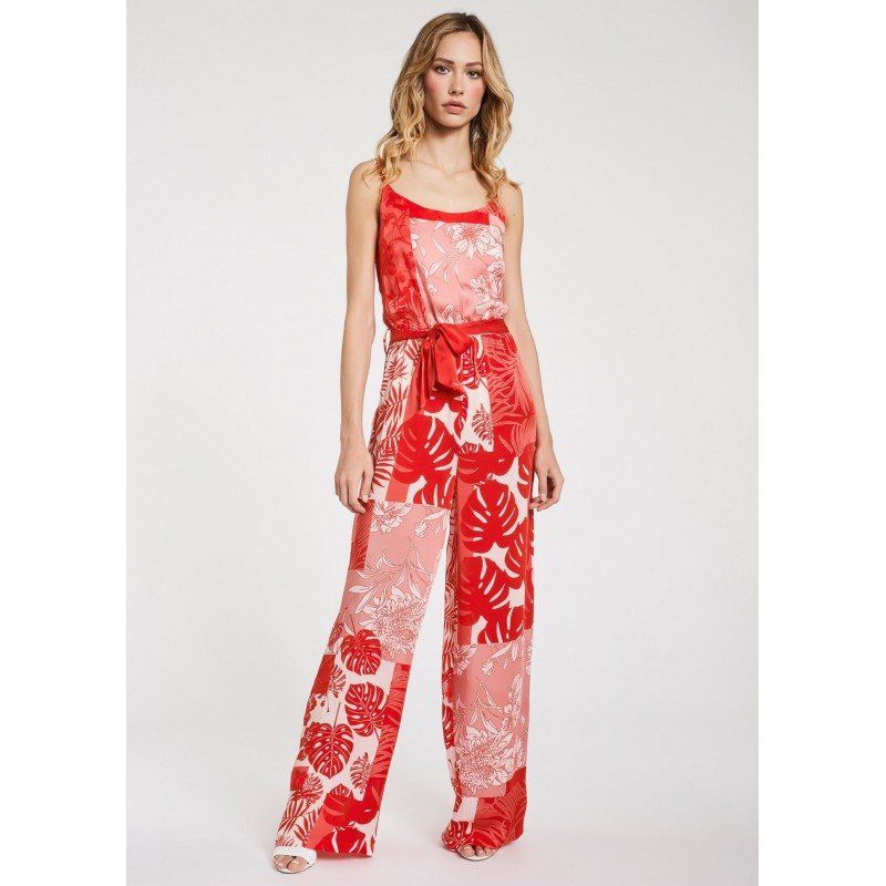 Women's Red viscose jumpsuit Gaudì Spring Summer 2020