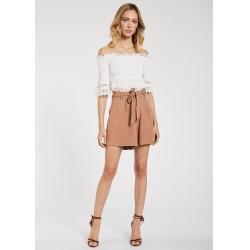 Blusa bianca da Donna con ricamo sangallo Gaudì Primavera Estate 2020