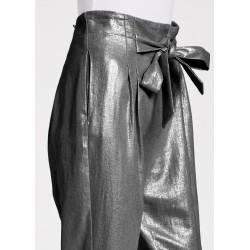 Pantaloni in viscosa e lino Gaudì