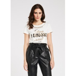 Women's T-shirt with lettering print Gaudì Spring Summer 2020