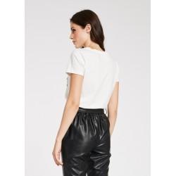 T-shirt bianca da Donna con stampa lettering Gaudì Primavera Estate 2020