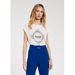 Viscose T-shirt with rhinestones Gaudì