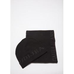 Set sciarpa e cuffia Gaudì nero