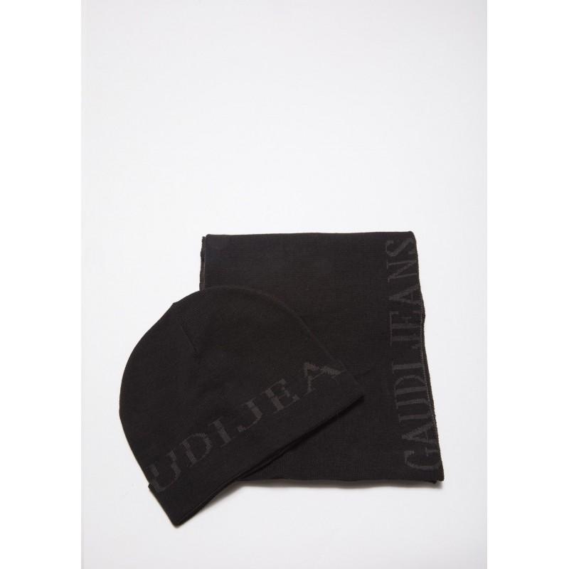 Scarf and cap set Gaudì black