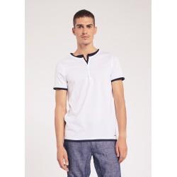 T-shirt bianca con bottoni Gaudì Jeans Primavera Estate 2020