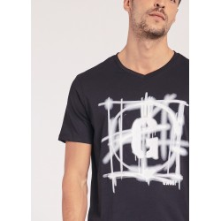 T-shirt with spray print Gaudì