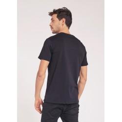 Men's Black T-shirt with spray print Gaudì Jeans Spring Summer 2020