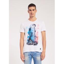 T-shirt bianca a maniche corte Gaudì Jeans Primavera Estate 2020
