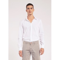 Men's White Shirt with classic collar Gaudì Jeans Spring Summer 2020