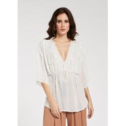 Blusa bianca da Donna con paillette Gaudì Primavera Estate 2020