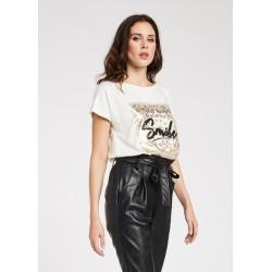 Women's T-shirt with golden print Gaudì Spring Summer 2020